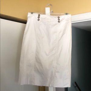 WHBM pencil skirt white 0